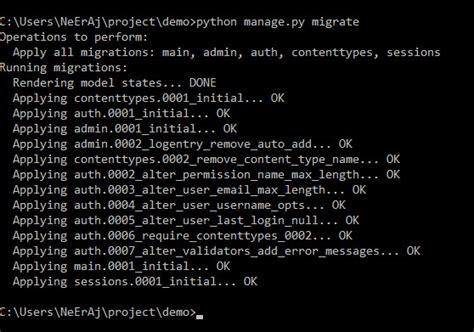 django creating migrations python django tutorial migration of database models