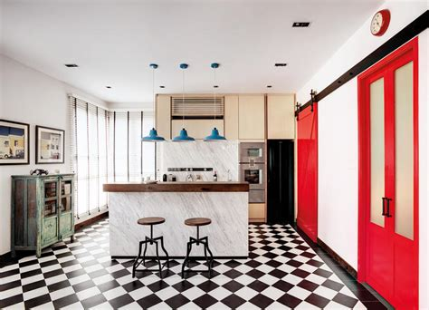 Vintage Home Decor Singapore 6 Homes With Black And White Checkered Floors Home Decor Singapore