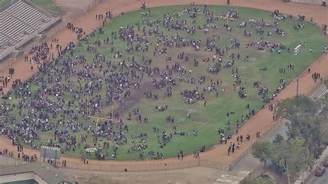 schurr high school news bomb threat prompts evacuation at montebello school abc7