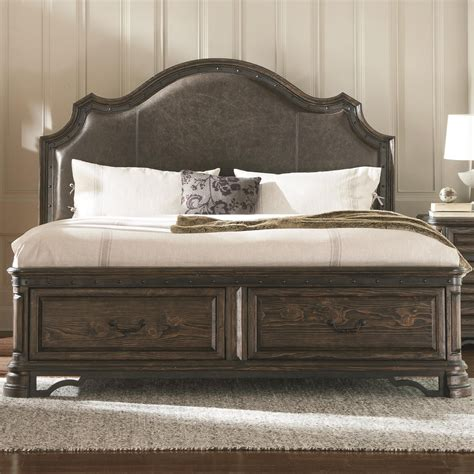 Bed With Padded Headboard by Carlsbad Eastern King Storage Bed With Upholstered