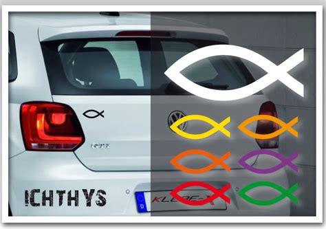 Fisch Am Auto by Ichthys Fisch Auto Aufkleber Jesus Christen Kirche Sticker