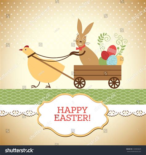 A Greeting An Advice A Question On Easter by Easter Greeting Card Stock Vector Illustration 129403625