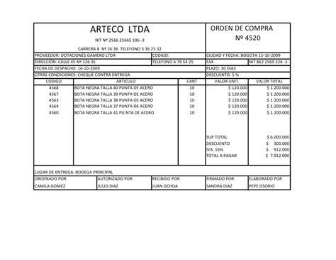 departamento de compra formatos de requisici 243 n y orden de requisicion de compra orden de compra n 186 1