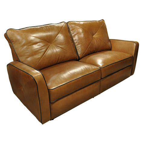 Leather Reclining Loveseats On Sale by Omnia Leather Bahama Leather Reclining Loveseat Reviews