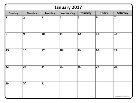 blank printable calendar template 2017 blank monthly calendar 2017 printable 2017 calendars