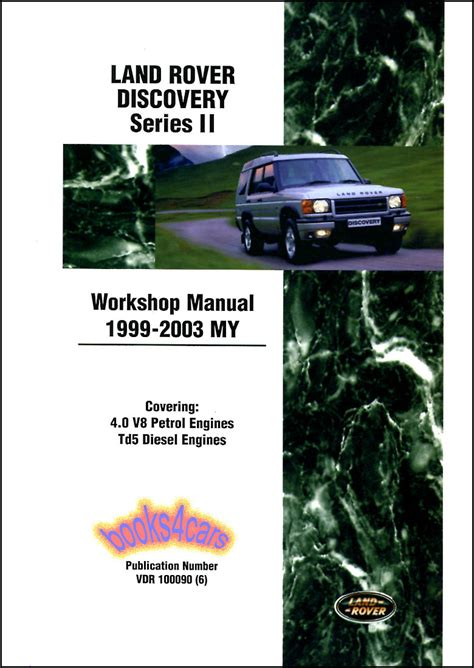 land rover discovery series 2 1999 2003 workshop manual shop manual service repair book workshop guide discovery ii land rover 1999 2003 ebay