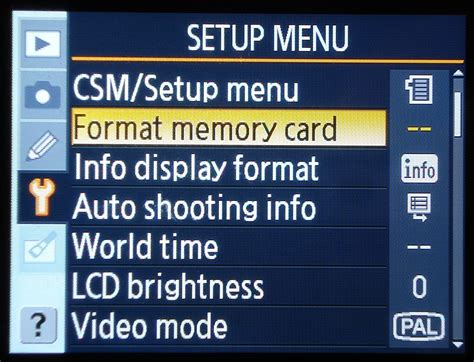 Format Memory Card   nikon d40 tips nikon d40 how to format the memory card