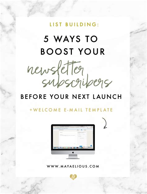 5 Ways To Welcome by 5 Ways To Boost Newsletter Subscribers For Your Next Launch