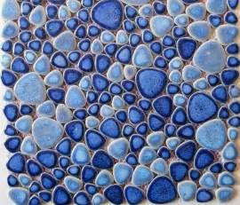 glazed porcelain tiles stone pebble mosaic ppmt024