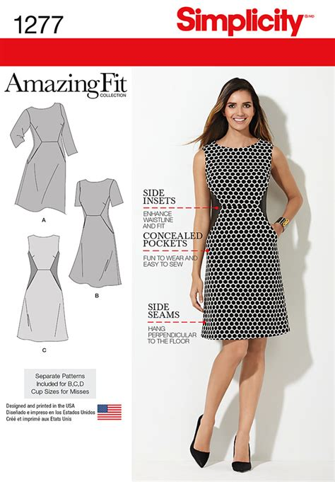 pattern review simplicity amazing fit simplicity 1277 miss and plus amazing fit dress