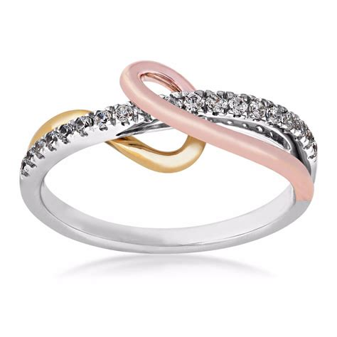 promise ring in 10 kt tri color gold qr2883c tt