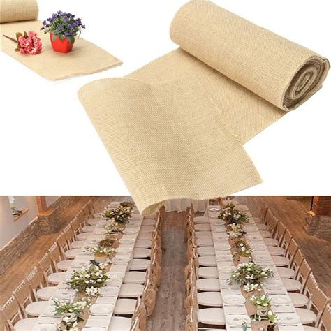 7 Gorgeous Table Runners by 30x275cm Burlap Table Runner Cloth Wedding Decoration