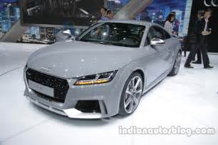 audi tt rs coupe front three quarter at the auto china