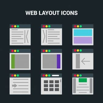 what does web layout view display designer s workspace flat illustration vector free download