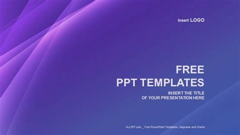 purple line abstract ppt templates