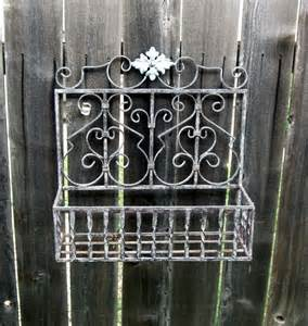 Wrought Iron Wall Planters Outdoor by Wrought Iron Wall Mount Flower Garden Planter By