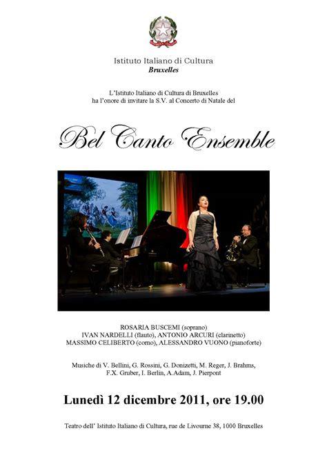 consolato bruxelles progetto bel canto gt archivio eventi gt 2011
