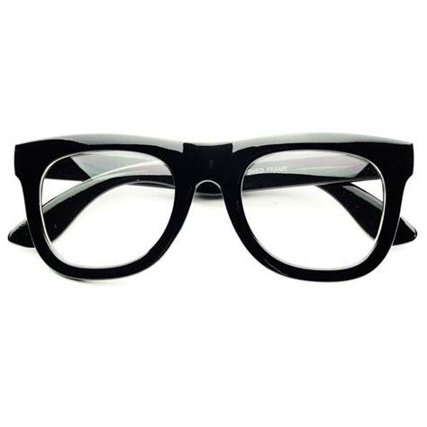 clear lens thick framed retro fashion wayfarer glasses