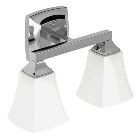 moen bath fixtures direct moen yb5162ch chrome voss 14 quot wide 2 light reversible bathroom vanity light fixture