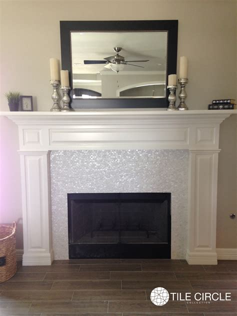 Of Pearl Fireplace by Enhance Your Fireplace Surround With Of Pearl Tiles