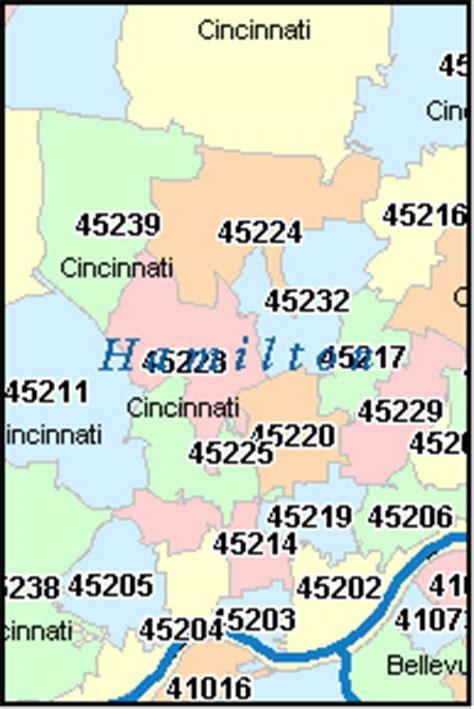 zip code map cincinnati hooven ohio oh zip code map downloads