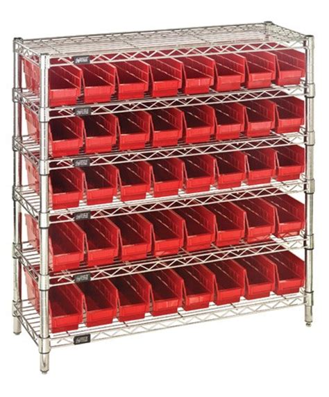 Medical Storage Cabinets Wire Shelving Plastic Bins | central supply plastic bin wire medical storage unit wr6