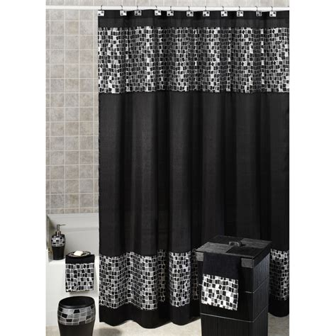 Gray And Black Shower Curtains Black And White And Gray Curtains For Shower Useful Reviews Of Shower Stalls Enclosure