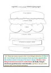paragraph writing hamburger style organizer