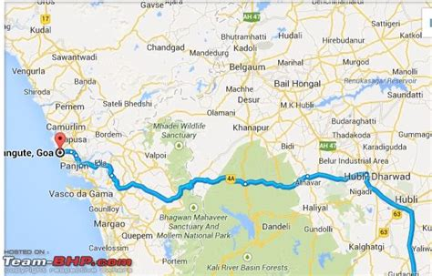 road map from mapusa to belgaum bangalore goa route queries page 170 team bhp