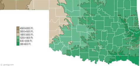 geographical map of oklahoma geographical features all about oklahoma