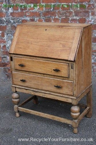 light oak desk with drawers stripped light oak bureau desk with two drawers ebay