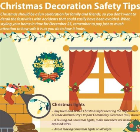 decorating safety tips top 5 decoration infographics