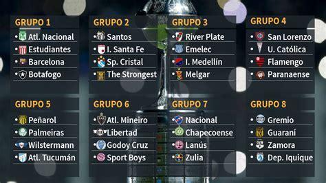 Calendario De La Copa Libertadores As 237 Quedan Los Grupos De La Copa Libertadores 2017 As