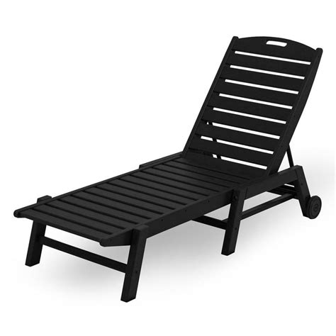 Stackable Chaise Lounge Chairs by Shop Polywood Nautical Stackable Plastic Chaise Lounge