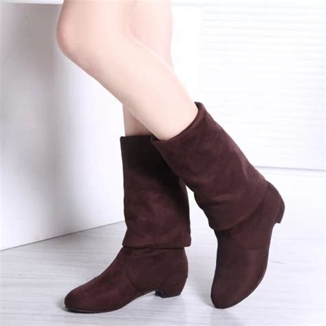 2015 s boots high leg boots thick heel the knee