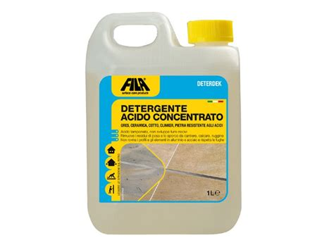 acido muriatico pavimenti disincrostante acido per pavimenti deterdek fila