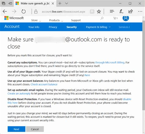 outlook sign in to your microsoft account how to close and delete your microsoft account