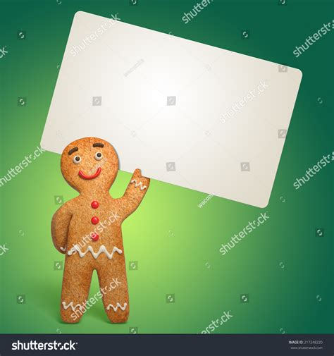 gingerbread card template gingerbread holding blank card stock