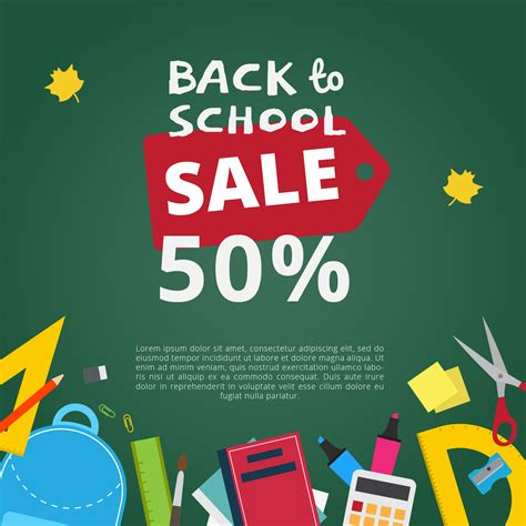 back to school background back to school sale vector background free