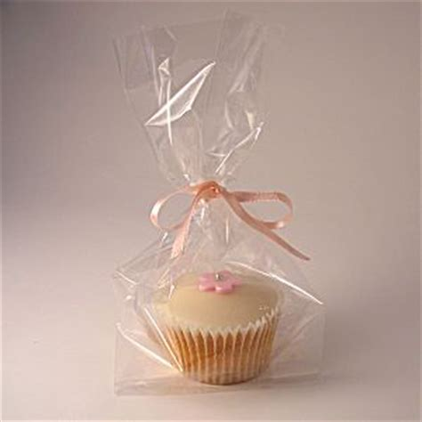 clear cello cupcake bags side gusset muffin size