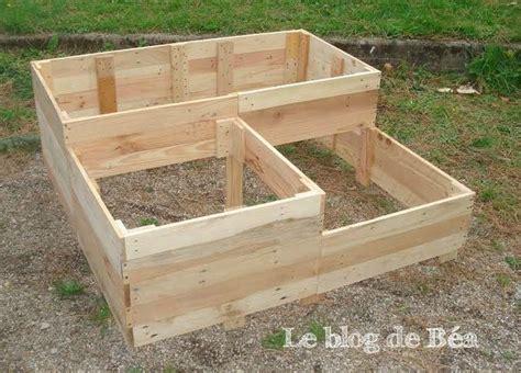 Carre Bois Pour Jardin by Les 25 Meilleures Id 233 Es Concernant Jardini 232 Res De Palettes