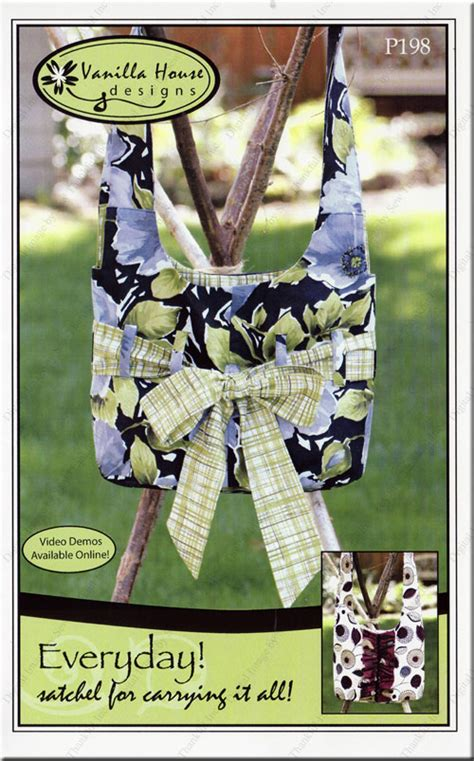 design patterns of house front everyday satchel sewing pattern from vanilla house designs