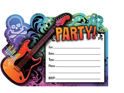 Creative Rock Star Birthday Party Home Party Theme Ideas Rock Birthday Invitation Templates