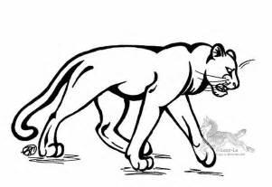 Logo Black Panther Outline by On Line Az Dibujos Para Colorear