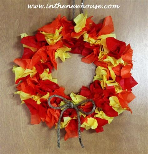 Paper Fall Crafts - fall wreath paper craft for ye craft ideas
