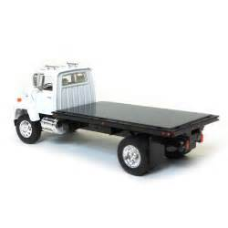 1 64 ford ln flatbed truck white with black bed by top