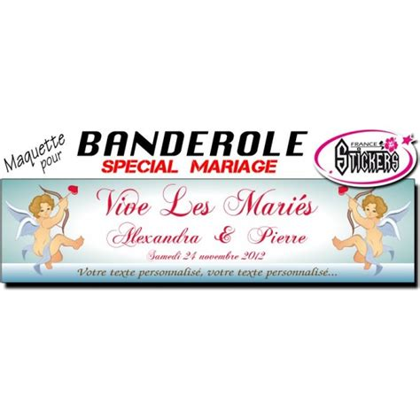 stickers wc 2156 banderole mariage personnalis 233 e stickers