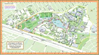 Miami University Map by University Of Miami Campus Map Viewing Gallery