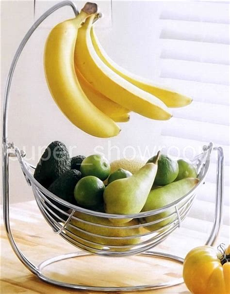 Fruit Hammock With Banana Hook 2 in 1 fruit bowl hammock basket with banana hook