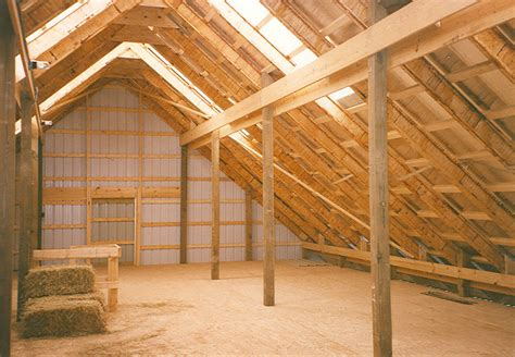 barn floor second floor options for pole buildings conestoga buldings